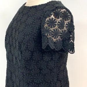 NWT Black lace Talbots dress  14WP
